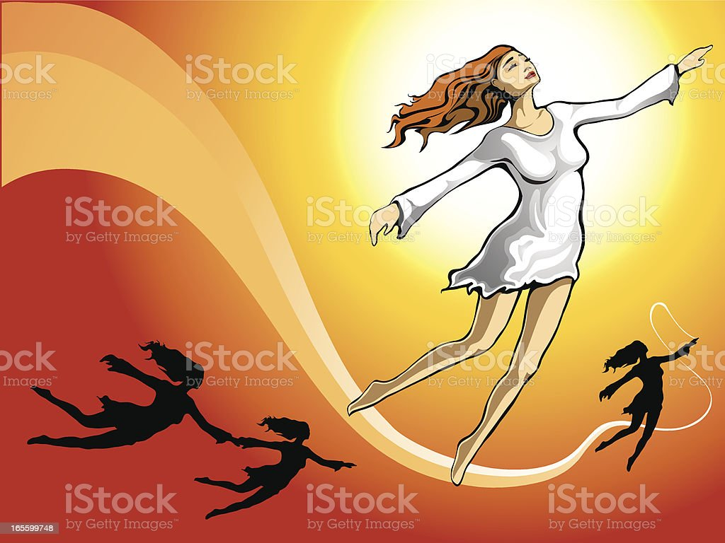 air dance vector art illustration