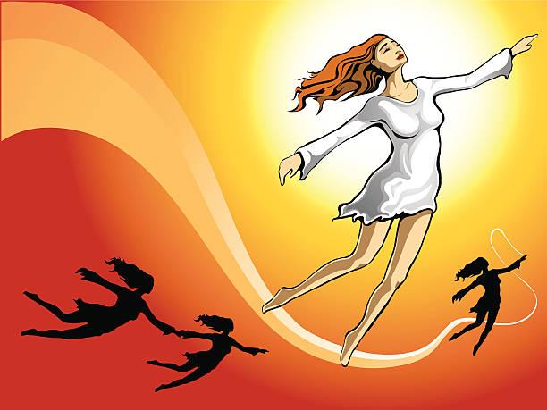 air dance vector art illustration