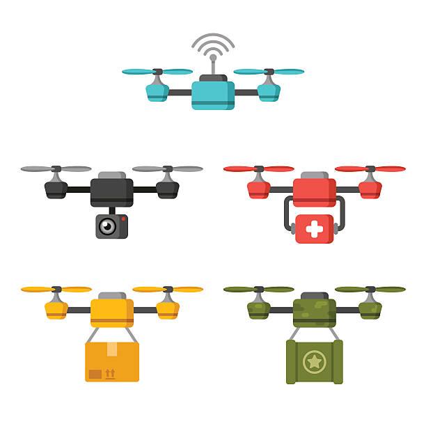 ilustrações de stock, clip art, desenhos animados e ícones de ar monótona usa - drone