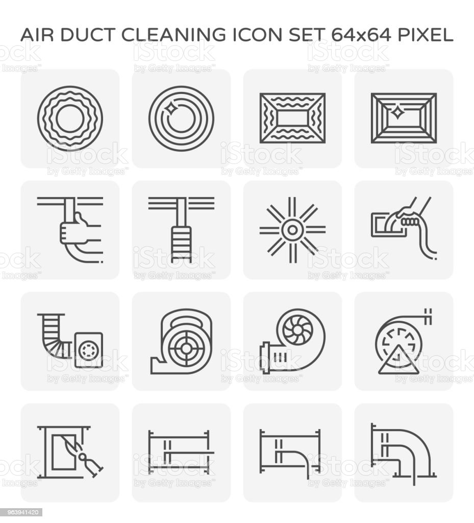 air duct cleaning - Royalty-free Air Conditioner stock vector