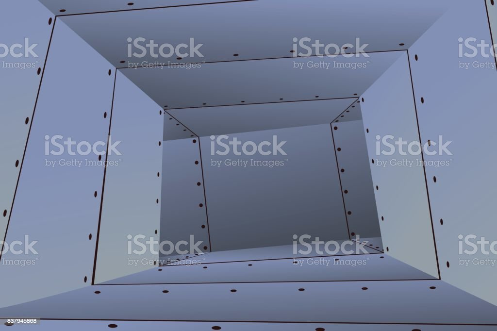 Air Duct Empty vector art illustration