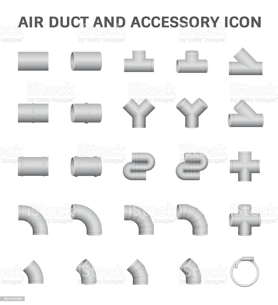 Air Duct Icon vector art illustration