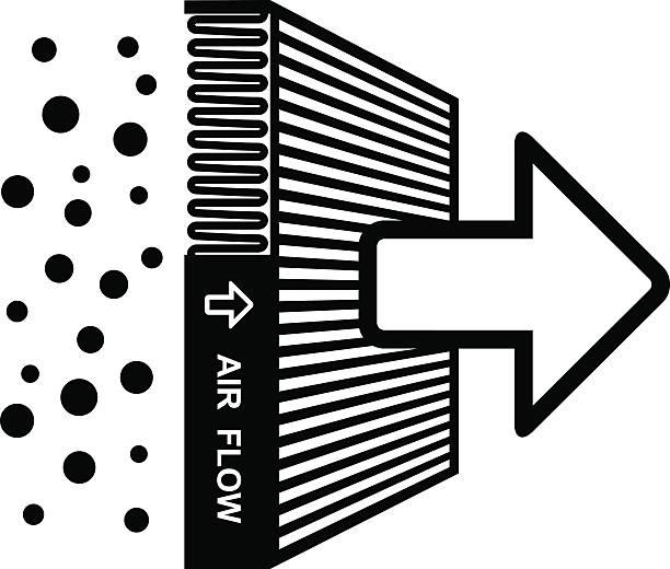 air filter effect symbol air filter effect symbol - illustration for the web lighting technique stock illustrations