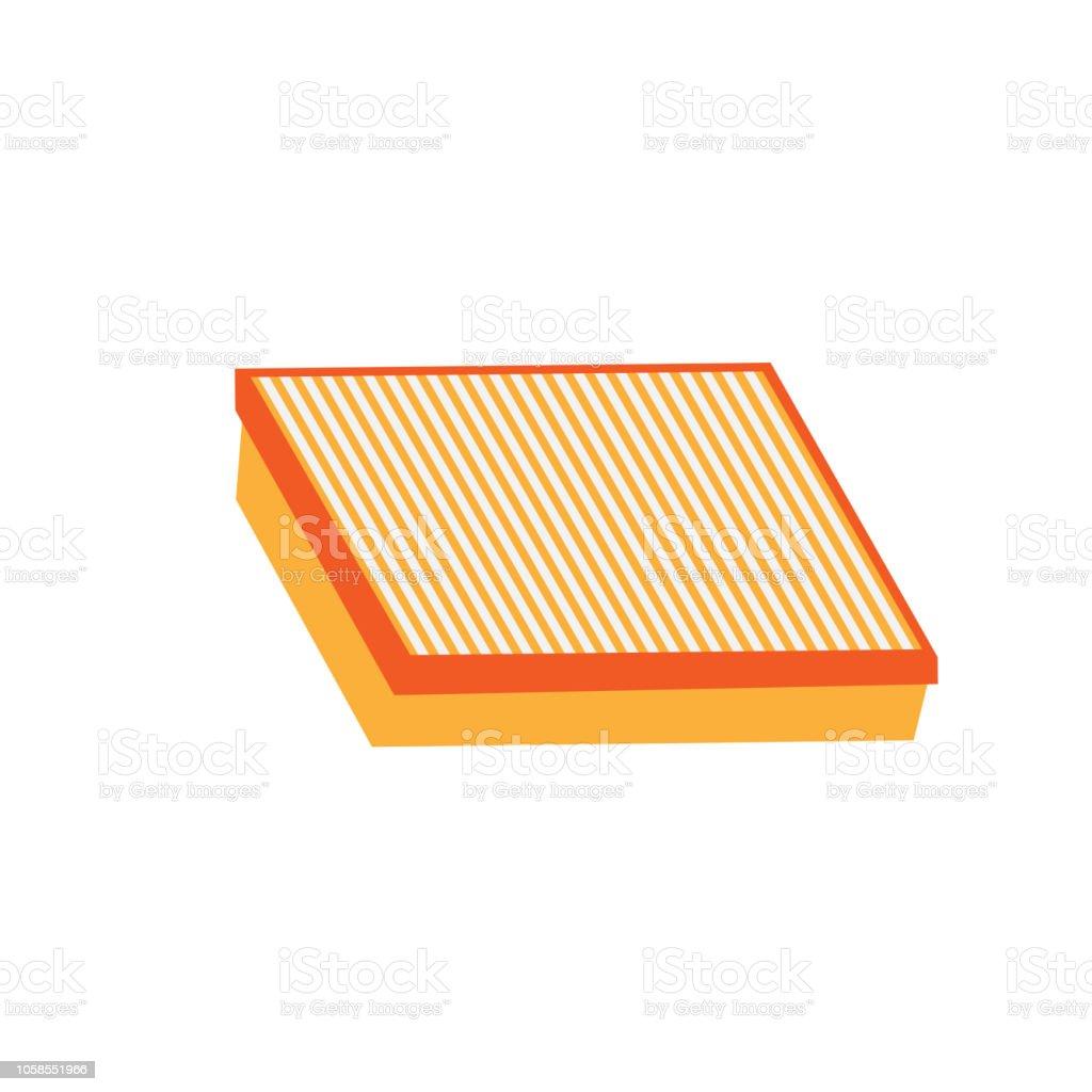 air filter vector car spare part vector art illustration