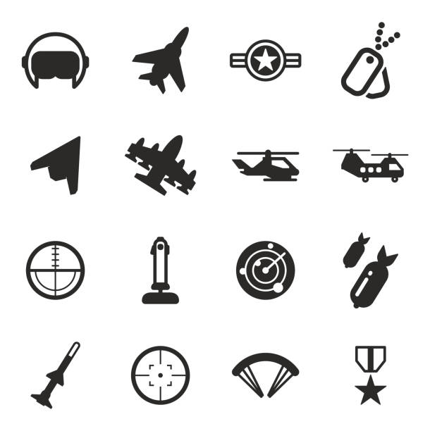 Air Force Icons This image is a illustration and can be scaled to any size without loss of resolution. air force stock illustrations