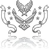 US Air Force military insignia sketch