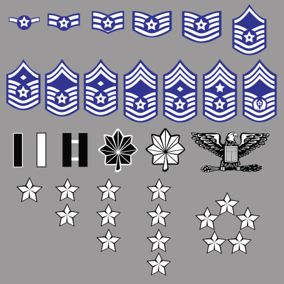 Us Air Force Rang Der Insignia Stock Vektor Art und mehr