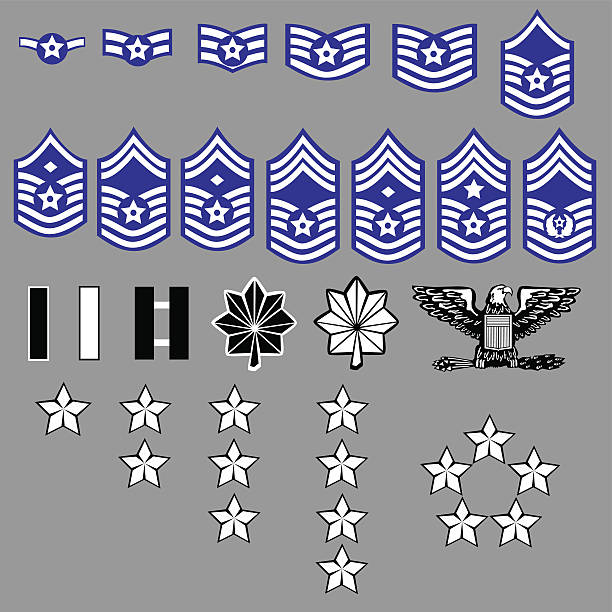 US Air Force Rank Insignia  air force stock illustrations