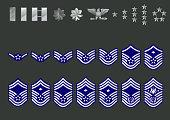 US air force ranks vector illustration.
