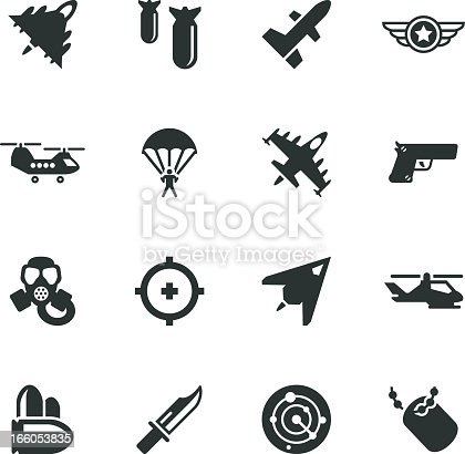 Air Force Silhouette Icons