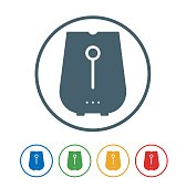 Air fryer flat Icon Isolated on White Background.vector illustration icon