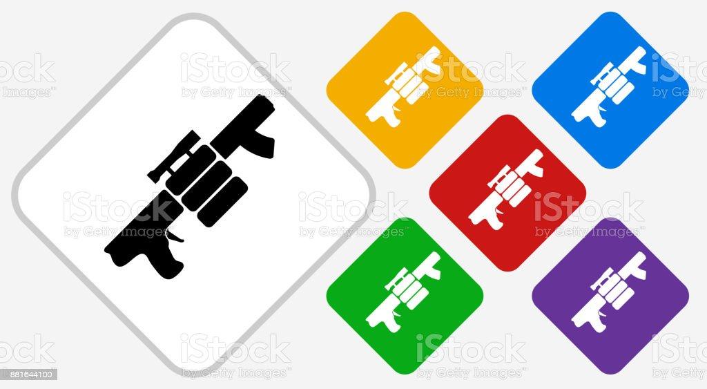 Air Gun and Spare Bullets Color Diamond Vector Icon vector art illustration