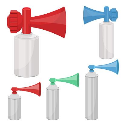 Air horn vector design illustration isolated on white background