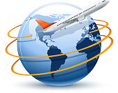 drawing of vector air tourism symbol. Created by illustrator cs6. This file of transparent.