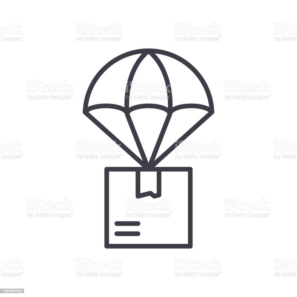 Air mail black icon concept. Air mail flat  vector symbol, sign, illustration. royalty-free air mail black icon concept air mail flat vector symbol sign illustration stock vector art & more images of air vehicle