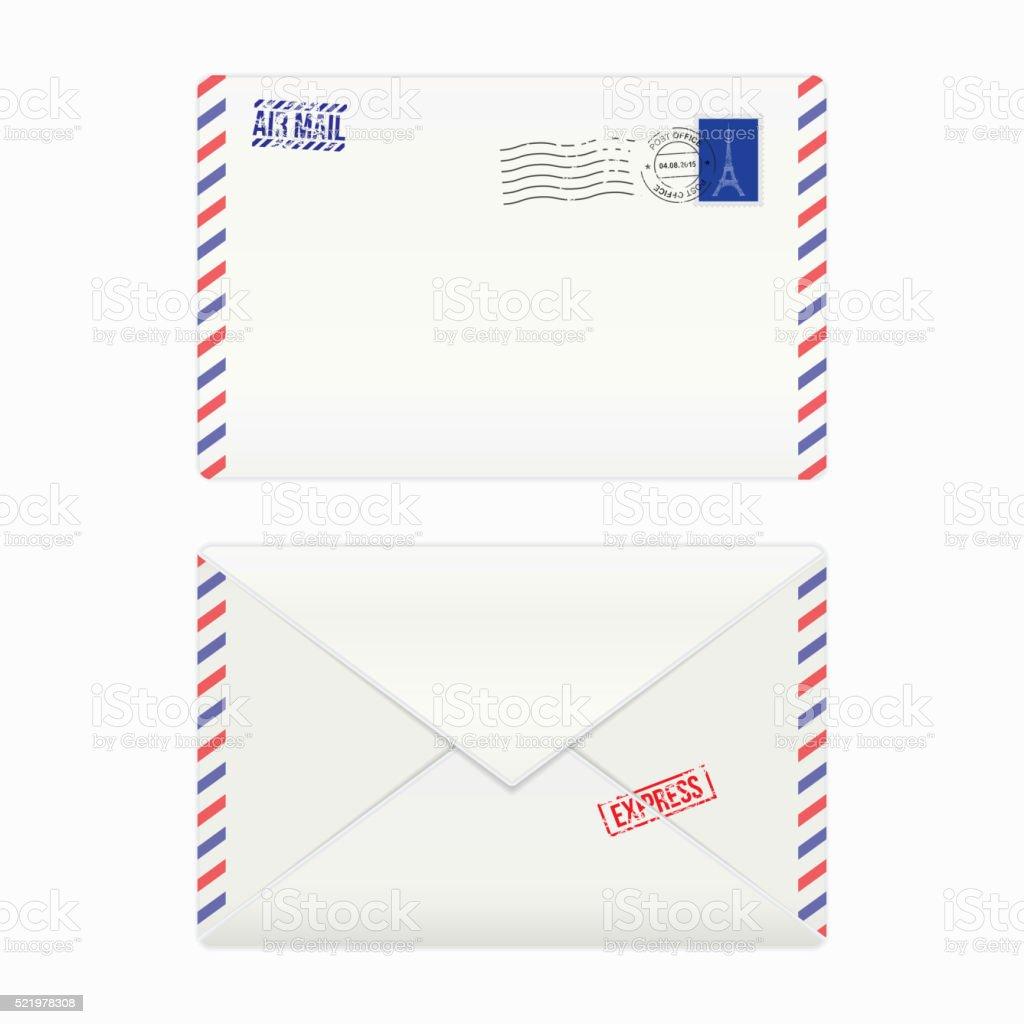Correo a reo sobre con sello postal arte vectorial de stock y m s im genes de anticuado for Correo postal mas cercano
