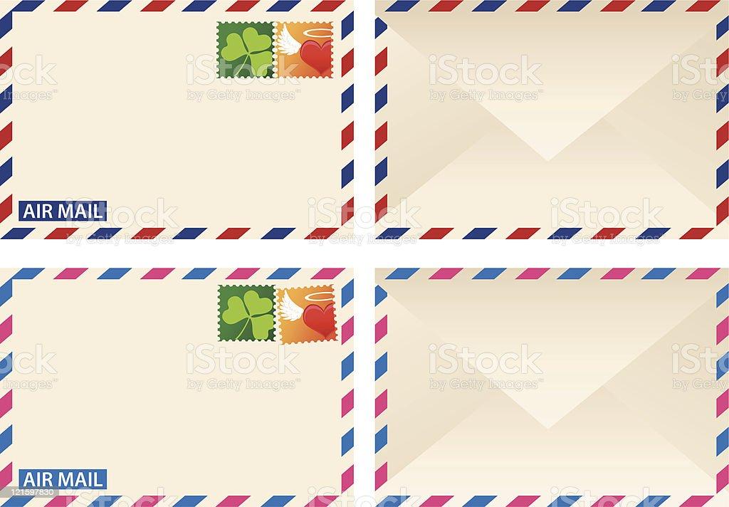 Air Mail royalty-free stock vector art