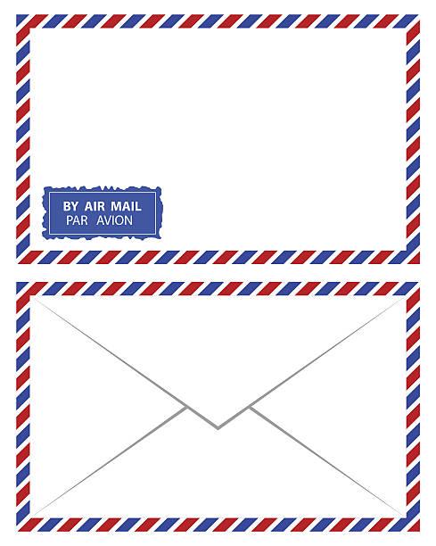 ilustrações, clipart, desenhos animados e ícones de correio aéreo vetor - fontes e tipografia