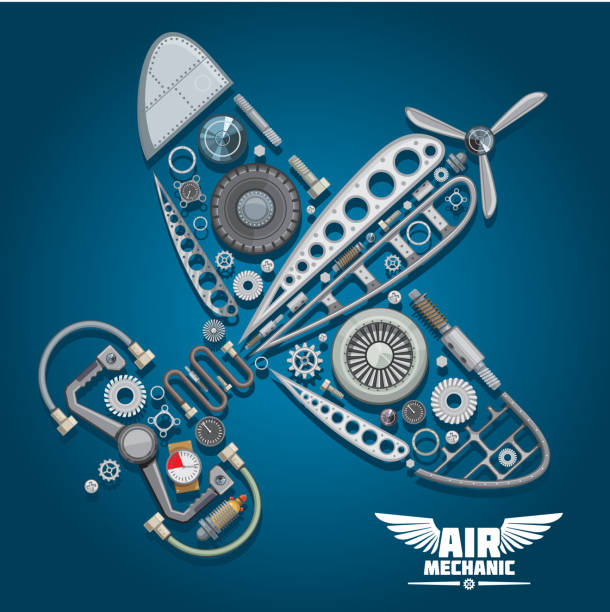 Airplane Wheel Clip Art : Royalty free aircraft mechanic clip art vector images