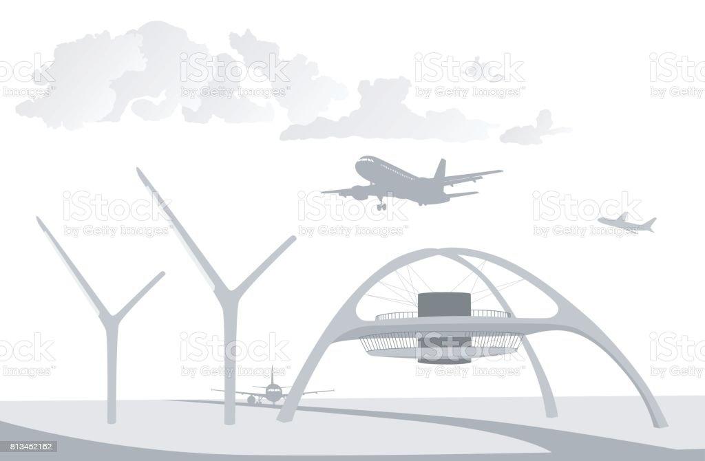 Air Patrol Tower vector art illustration