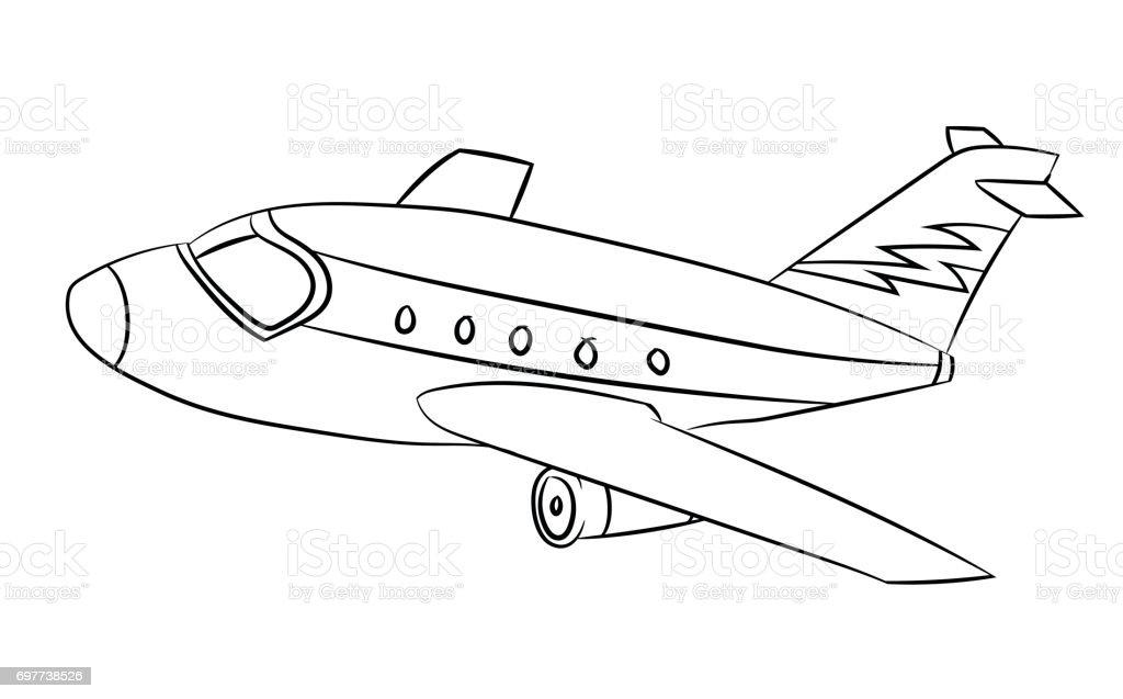 Ilustración de Avión Línea Dibujado Vector y más banco de imágenes ...
