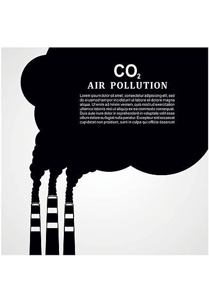 bildbanksillustrationer, clip art samt tecknat material och ikoner med air pollution. factory or power plant smoke. smoking factory concept - skorsten