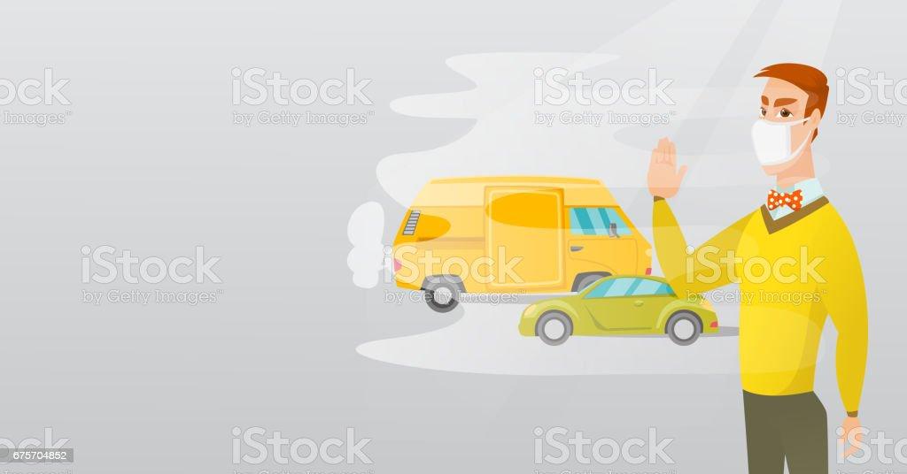 汽車尾氣造成的空氣污染 免版稅 汽車尾氣造成的空氣污染 向量插圖及更多 加拿大 圖片