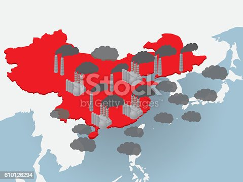 istock Air pollution in China, image illustration 610126294