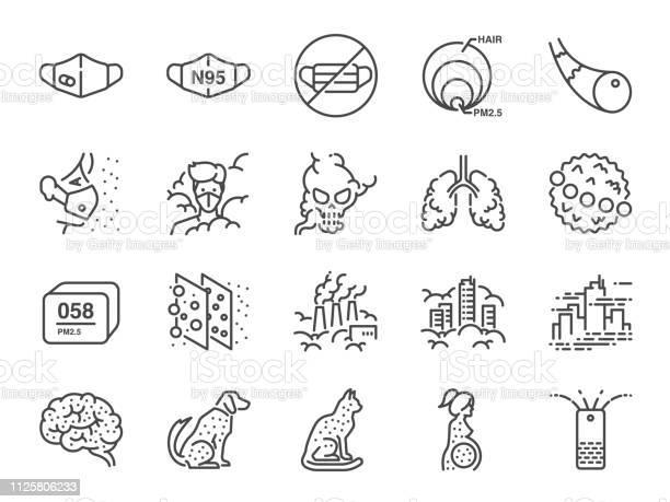 Air pollution line icon set included icons as smoke smog pollution vector id1125806233?b=1&k=6&m=1125806233&s=612x612&h=j7s5ygog2qasutlmxcfpexmw j3xsru0gf3qsvcc8om=