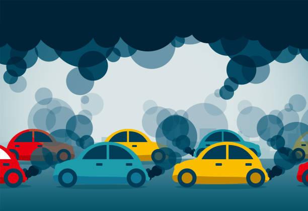 air pollution vector art illustration