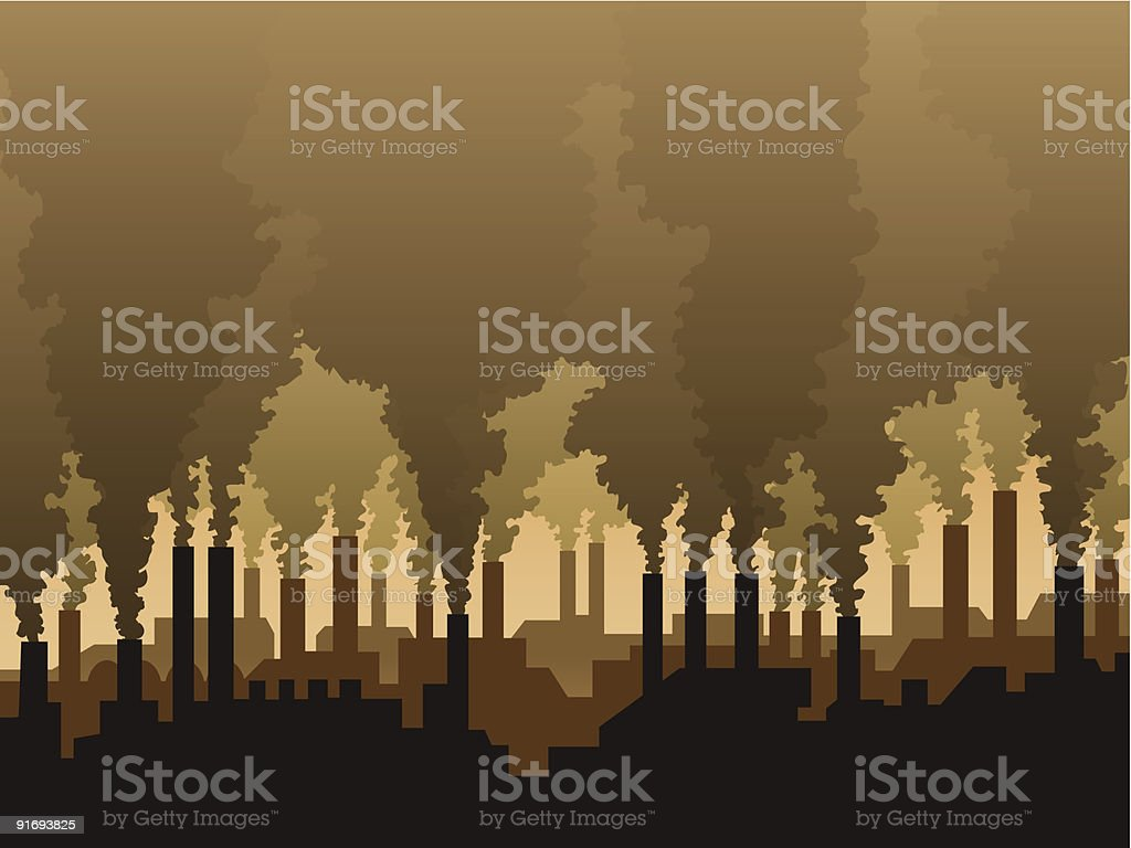 Air pollution - Royalty-free Abstract stock vector