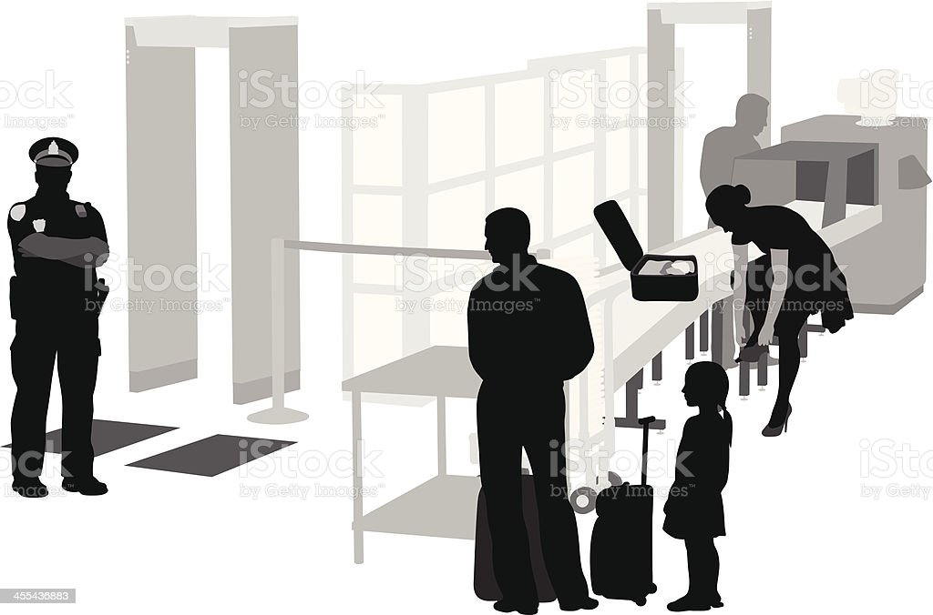 Air Secure Vector Silhouette royalty-free stock vector art