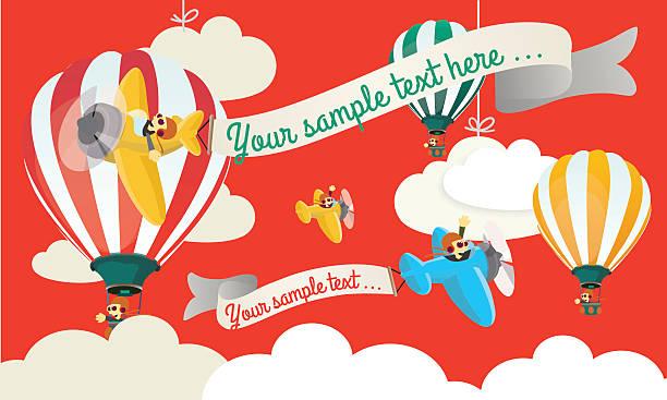 Air Show Child illustration vector art illustration