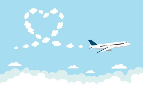 Exhibición aérea corazón de bucle - ilustración de arte vectorial
