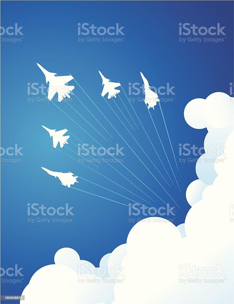 Air Show vector art illustration