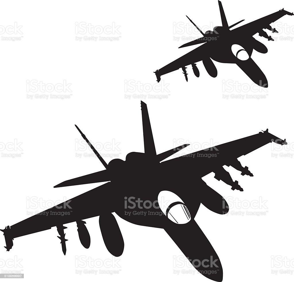Air strike. Vector vector art illustration