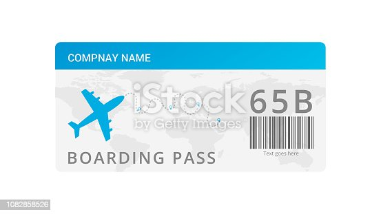 air ticket template vector