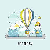 air tourism concept