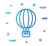 istock Air Tourism Line Style Icon Design 1156255348