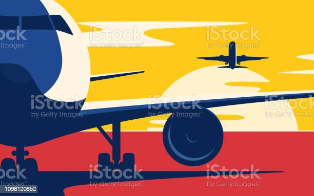 Air traffic flat style vector illustration of the airliners at sunset vector id1096120852?b=1&k=6&m=1096120852&s=612x612&h=85b7ahqymc8i f7rfx8dq44cterfbmactj8009wpn5i=