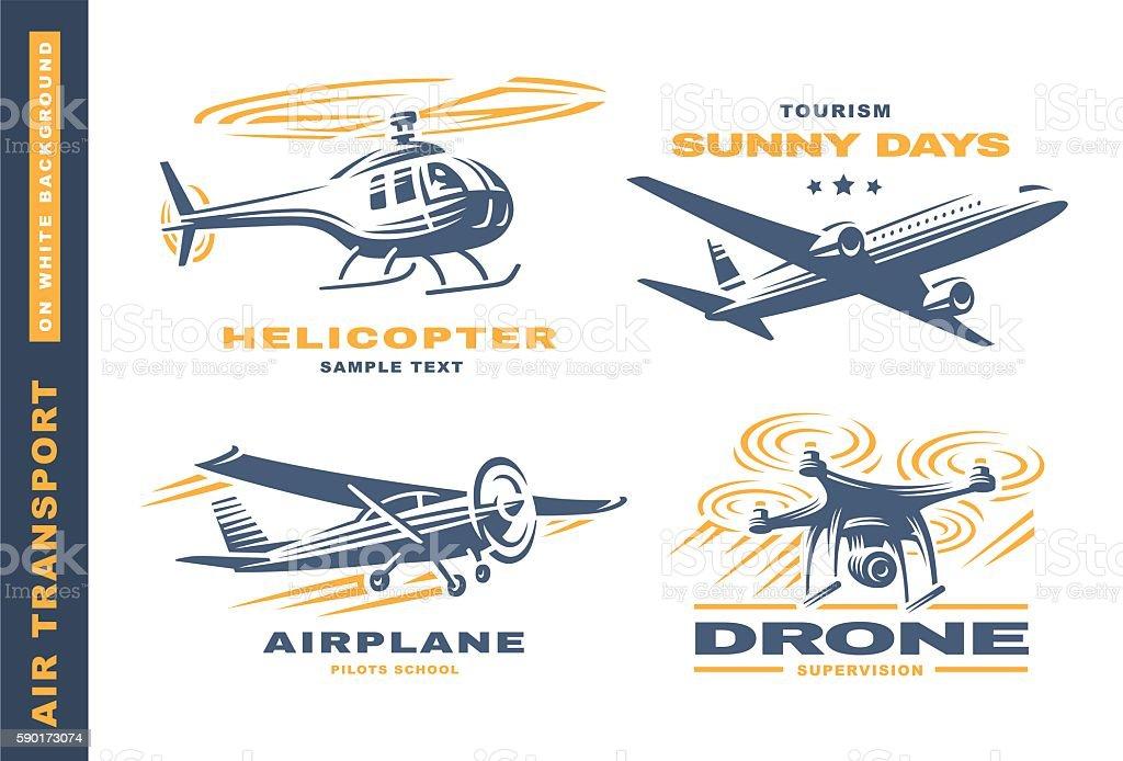 Air transport illustration on white background vector art illustration