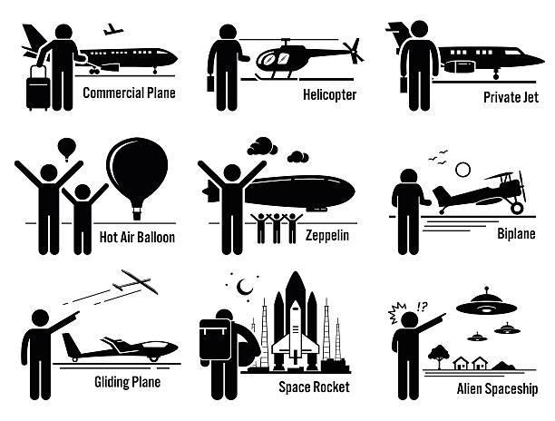 illustrations, cliparts, dessins animés et icônes de de transport de véhicules et les personnes ensemble d'illustrations - passager