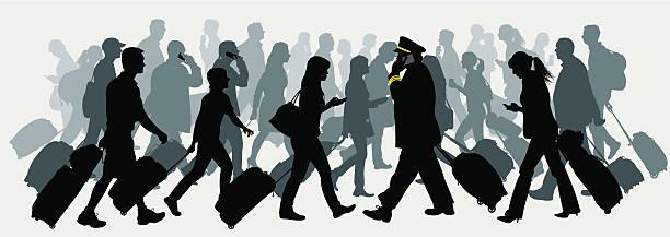 空の旅、お仕事でお越しのお客様には、ビジネス、バケーション旅行 - 出張点のイラスト素材/クリップアート素材/マンガ素材/アイコン素材