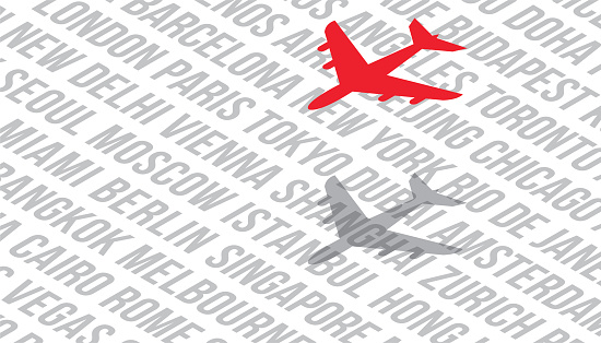 Air Travel Flights Airfare World Cities Background