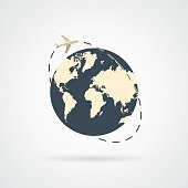 Air travel Icon Vector.