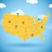 USA Air Travel Map