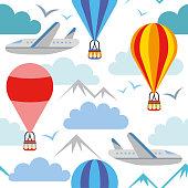 istock Air travel pattern seamless design graphic 1162026721