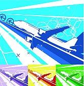 air travel (vector)