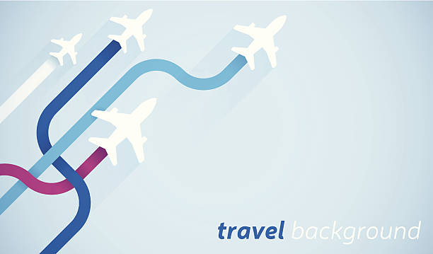 Air Travel Air travel background with space for copy. EPS 10 file. Transparency effects used on highlight elements. airport backgrounds stock illustrations