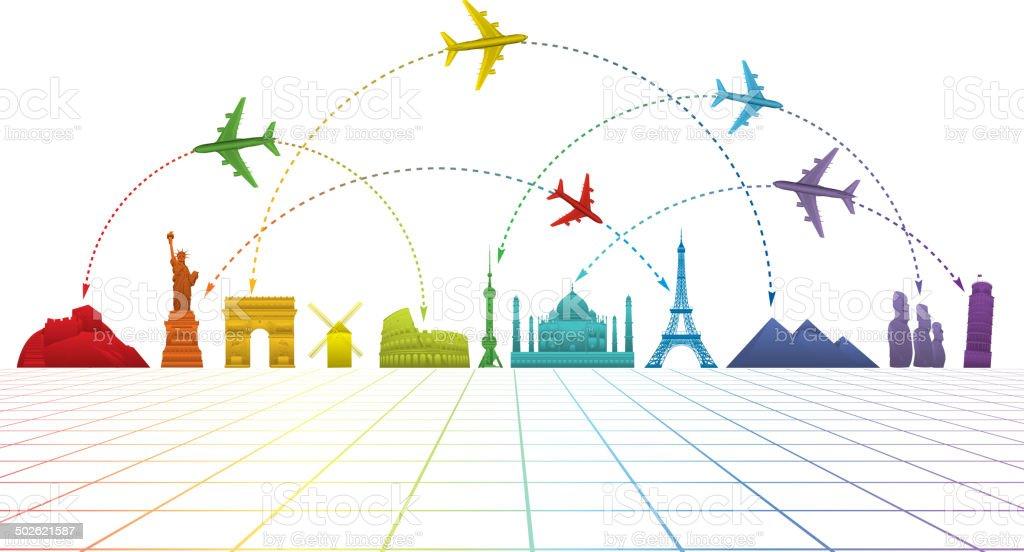 Viagem aéreas - ilustração de arte em vetor